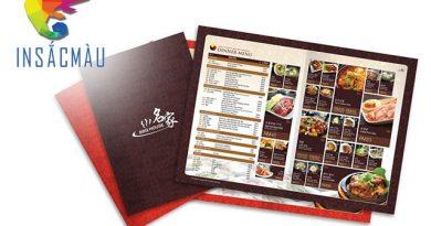 in menu cho nhà hàng