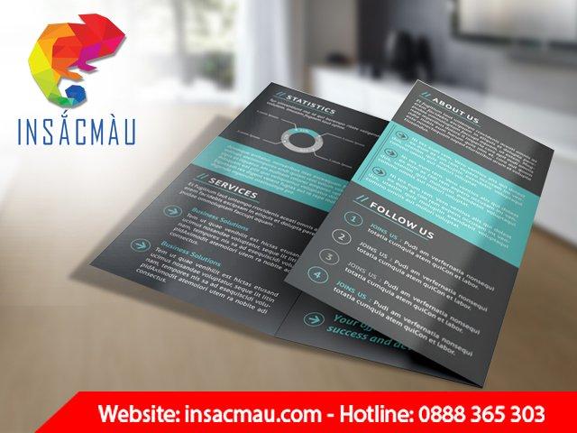 brochure quảng cáo
